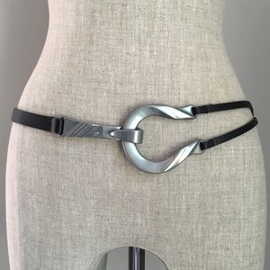 Accessories - CHICOS ▪️ Black Leather Belt with Hook Buckle